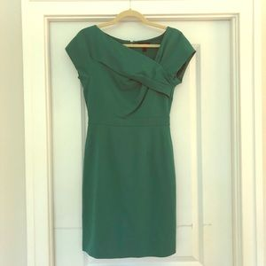 Green origami sheath dress from J. Crew. Size 0